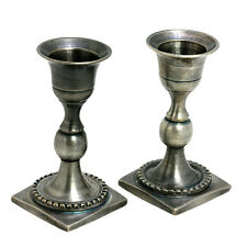 Antique replica Copper with Pewter MINI Shabbat Pair candle holders from Israel