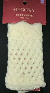 MERONA BOOT CUFFS KNEW HIGH NEW NWT 1 PAIR sour cream one size fits most stretch