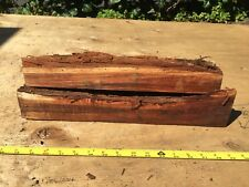 """Two Reclaimed Wax Sealed Curly Koa Bowl Blanks For Turning 2@16""""x3-8x2-3"""""""