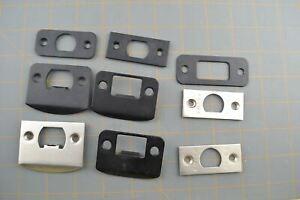 Emtek Door Strike Plates Lot of Door Handle Replacement Part Faceplate Face Jamb