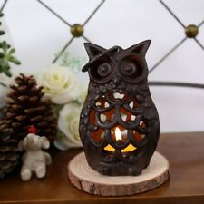 Creative vintage cast iron Owl Cafe Candlestick Home Decoration ORIGINAL