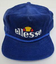 ELLESSE HAT CAP ZIPBACK VINTAGE RETRO VTG CREW MENS AMAPRO CORDUROY TRUCKER RARE