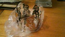Yankee candle Christmas xmas snowmen jar sleeve medium brand new in box