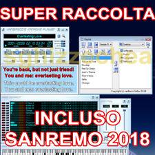 RACCOLTA BASI MUSICALI MIDI KARAOKE ORDINATA DALLA A ALLA Z + SANREMO 2018