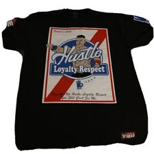 WWE Authentic John Cena Hustle Loyalty Respect Never Give Up T-Shirt - Large