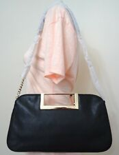 Michael Kors Berkley Black Pebbled Leather Large Clutch