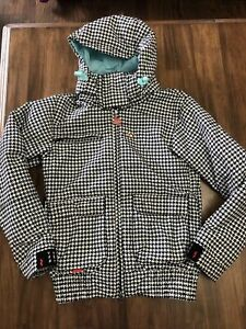 foursquare jacket -Womens- Small- Snowboard- Hounds Tooth