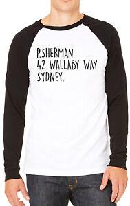 P.Sherman 42 Wallaby Way Sydney. Mens T-shirt Baseball Tee