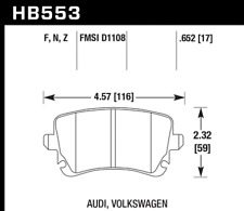 Hawk Disc Brake Pad-Base Rear for Audi A6 Quattro A8 Quattro RS4 S4 # HB553F.652