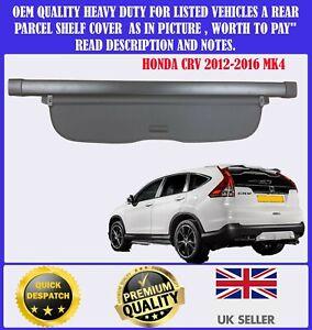 FOR HONDA CRV CR-V MK4 2012-2016 CARGO PARCEL SHELF LOAD COVER BLIND BLACK