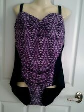 22W 24W 26W BLACK PURPLE ONE PIECE MESH  LINED ADJUST STRAPS BRA NWT $35