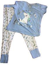 Primark Ladies Women girlsunicorn Crop Top Vest /& Short PJ Gym Yoga Nightwear