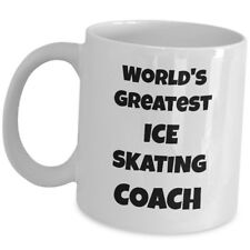 Worlds Greatest Ice Skating Coach Coffee Mug Gift Cup Trainer Mentor Instructor
