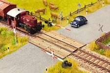 PLUS 14424 voie TT,Passage à niveau Madriers en bois minis découpés au Laser