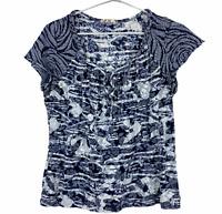 Regatta Womens Blue Floral Short Sleeve Blouse Size 12