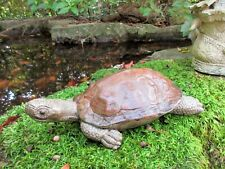Northeastern Wood Turtle, Concrete Garden Decor by American Artist R. Warsin