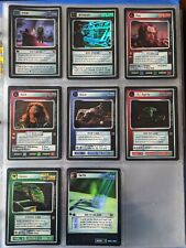 Star Trek CCG STCCG Blaze Of Glory BOG Full 8 Card VRF Very Rare Foil Set