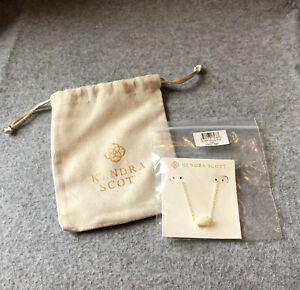 Kendra Scott Ever Necklace 100 Gold with White Mother of Pearl NWT