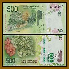 Argentina 500 Pesos, ND 2016 P-New Leopard Unc