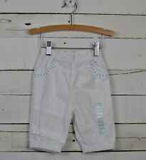 Baby Girls Naartjie Sz 18 24m White Pedal Pants Bottoms Textured Woven New