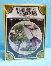 "1992 WOODLAND SCENIC TK21 4.5"" GNARLED 2 TREES NIB FACTORY SEALED 4A"