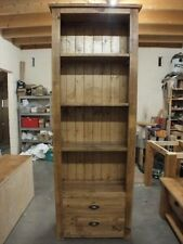 RECLAIMED LARGE BOOKCASE 2 DRAWERS HAND MADE RUSTIC BESPOKE SIZES COLOURS
