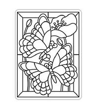 BUTTERFLY MOSAIC 4.25x5.75 Darice Embossing Folder Stained Glass 30008389