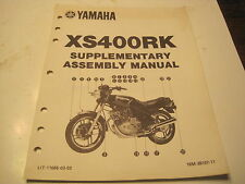 YAMAHA DEALERSHIP SHOP ASSEMBLY MANUAL XS400RK XS400 XS 400 RK LIT-11666-03-53