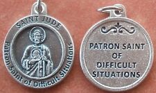 "Saint St. JUDE Medal Charm 3/4"" + Difficult Situations + HOPE OF THE HOPELESS"