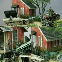 13 Pieces World War II German Soldier Shelter House Wood Cabin 1/35 Model New