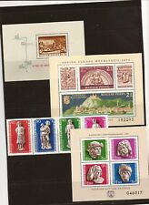 HUNGARY-4 semi-postal sets/souvenir sheets (for fill in?) Priced low