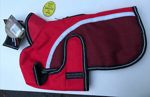 Petrageous 8400RS Calgary small dog winter coat red reflective harness opening