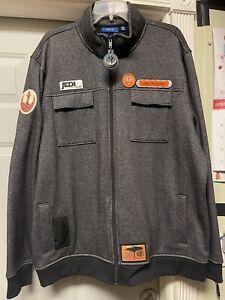 SW Rogue Squadron Leader Luke Skywalker Commemorative Fleece Jacket. Size XXL.