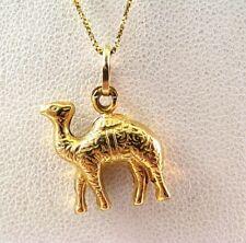 18K Gold CAMEL 3D CHARM PENDANT Animal