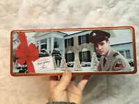Elvis Candy Tin Container Russel Stover Candy 1998 Collectible Tins
