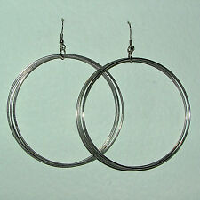 Hook Silver Plated Hoop Costume Earrings without Stone