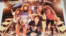 Vintage 1980's Anthrax Heavy Metal Band Poster 1987