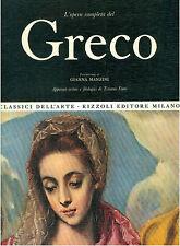 GRECO L'OPERA COMPLETA RIZZOLI 1969 CLASSICI DELL'ARTE 35