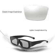 3D Glasses Black Frame Polarized Lenses For TV Real 3D Movie Private Cinemas