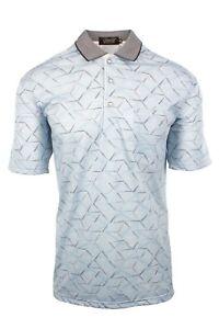 Mens Cypress Champion Check Single Jersey Polyester Golf Polo Shirt Short Sleeve