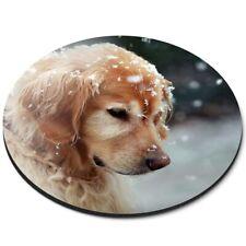 Round Mouse Mat  - Golden Retriever Puppy Dog Labrador  #45177