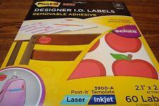 Post-it Super Sticky Designer Classroom I.D. Labels Laser/Inkjet  APPLE Design