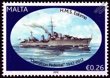 HMS ESKIMO (F75) Tribal Class Destroyer Warship WWII Malta Convoys Stamp