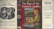 NANCY DREW #9 THE SIGN OF THE TWISTED CANDLES w/DJ RARE UK 1ST SAMPSON LOW 1960
