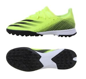 Adidas Youth X GHOSTED.3 TF Cleats Yellow Soccer Boot Kid Casual Spike FW6926