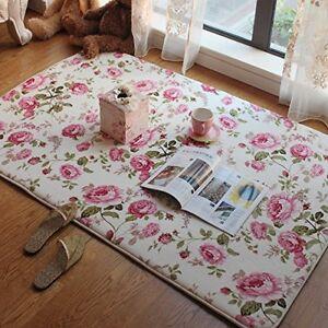 Space Floral Carpet Soft Coral Fleece Area Rug Door Mat sleepying Rest Home @