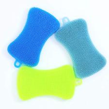 3 Pack Silicone Sponge Dish Cleaning Sponges Dish Washing Kitchen Gadgets Brush