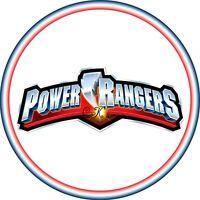 Power Rangers LOGO 7 INCH EDIBLE IMAGE CAKE & CUPCAKE TOPPERS.