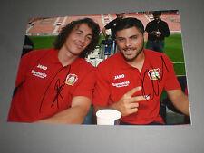 Julian Baumgartlinger + Kevin Volland Leverkusen Firmato Autografo foto 20x28