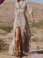 ♥Größe 34-40 Langes Sommerkleid Strandkleid Cocktailkleid+NEU+SOFORT+B565♥